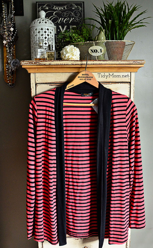 Renee C Saleen Striped Cardigan at TidyMom.net