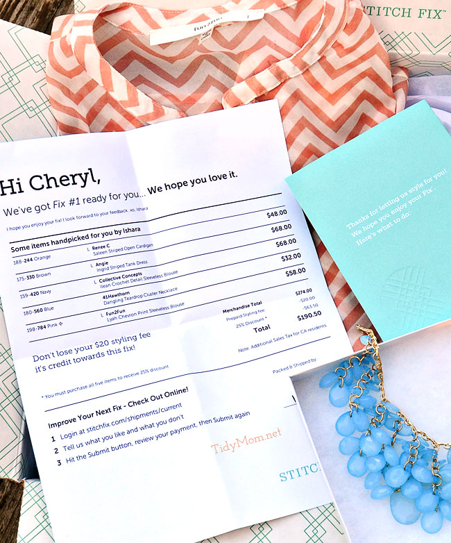 Stitch Fix Invoice at TidyMom.net