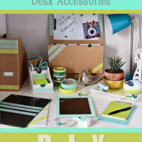 DIY Custom Desk Accessories at TidyMom.net