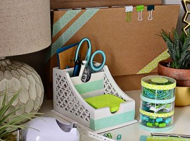DIY Customized Desk Accessories using Scotch Expressions Tape at TidyMom.net