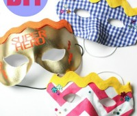 DIY Superhero Masks for the kids via TidyMom