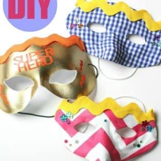DIY Superhero Masks for the kids via TidyMom