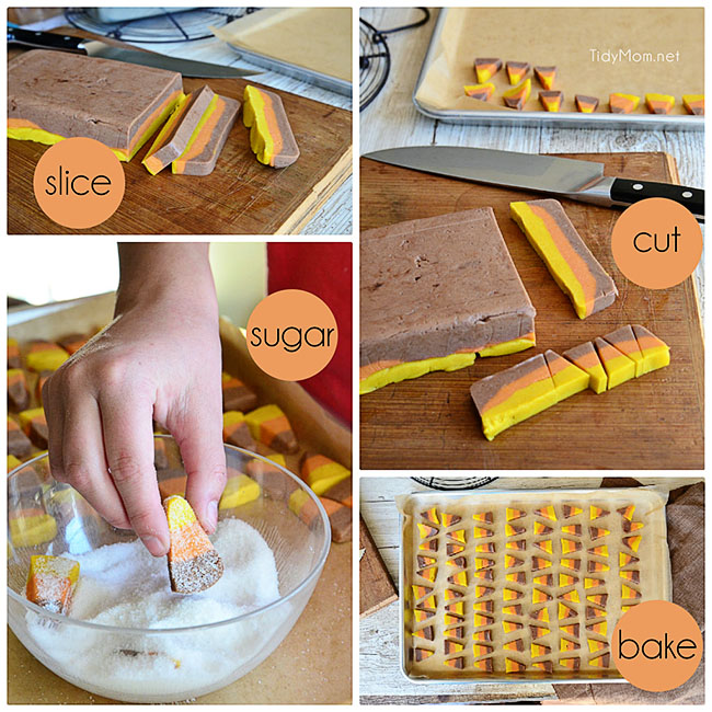 How to make Candy Corn Cookies at TidyMom.net