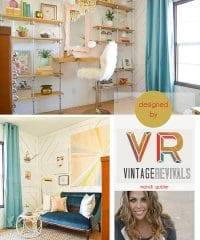 Industrial Office Makeover by Mandi Gubler of Vintage Revivals