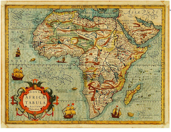 Antique Map of Africa print at TidyMom.net