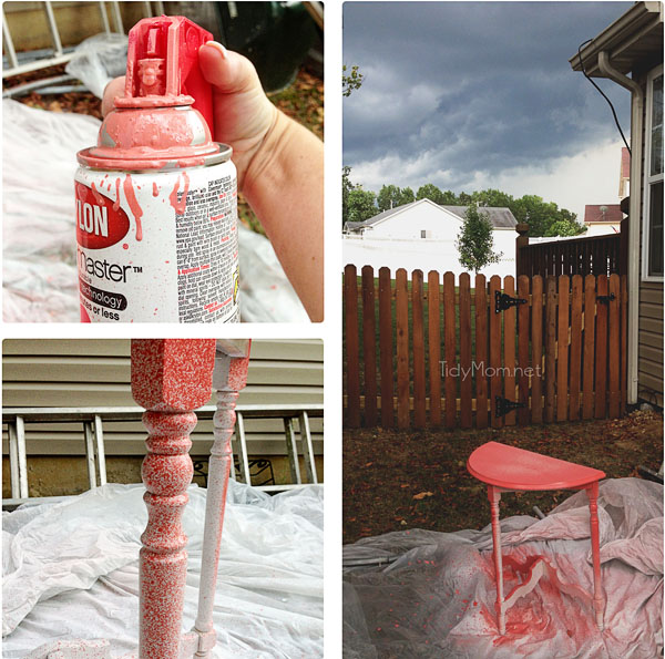 trouble spray painting