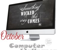 FREE October Background Wallpaper at TidyMom
