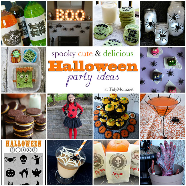 Spooky Cute & Delcious Halloween Party Ideas featured at TidyMom.net