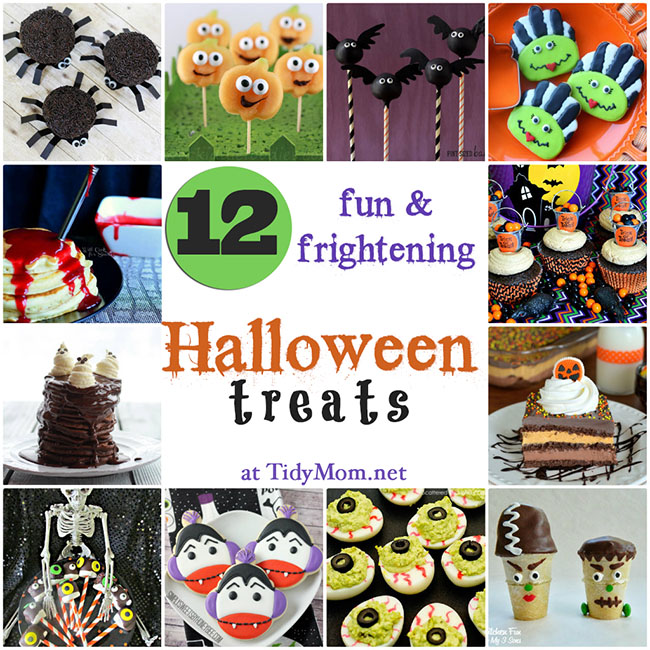 Fun & Frightening Halloween Treats for breakfast, parties or trick-or-treats!  details at TidyMom.net
