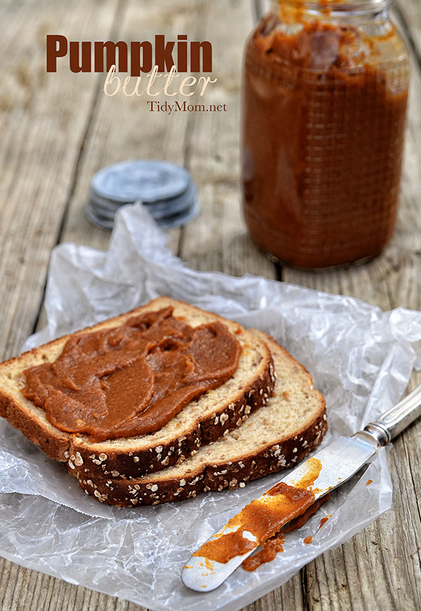 Easy and Delicious Homemade Pumpkin Butter recipe at TidyMom.net