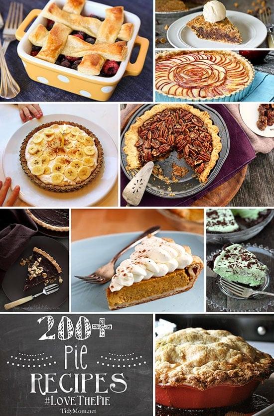 200+-Pie Recipes at TidyMom.net