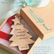 Christmas Family Tree Ornament