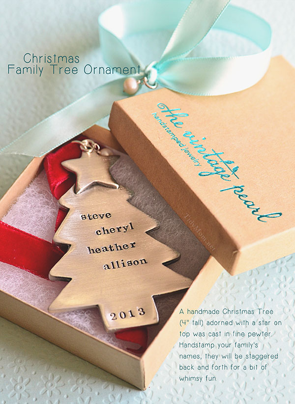 Christmas Family Tree Ornament from The Vintage Pearl at TidyMom.net