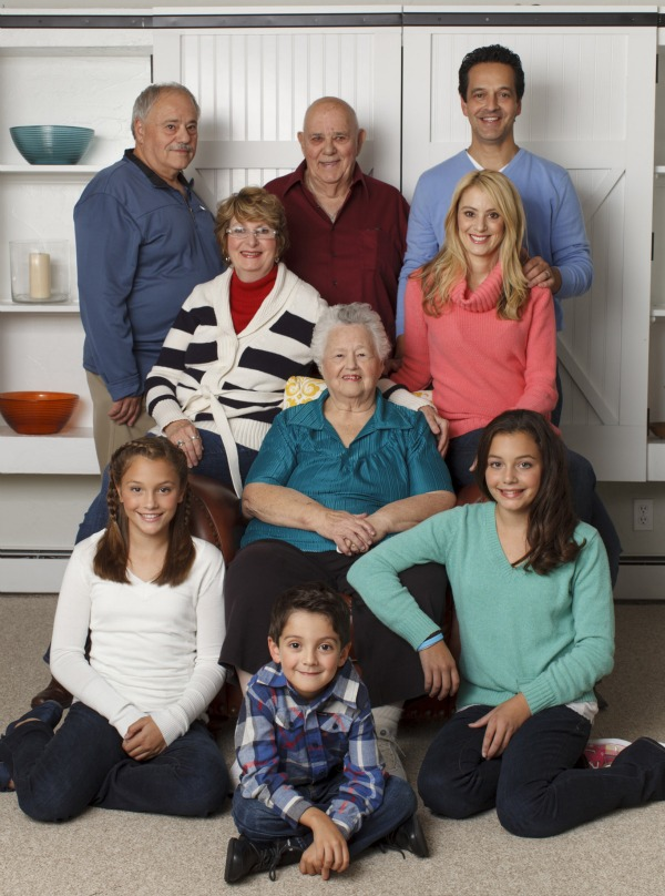 Four Generations One Roof Family picture