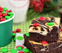 Marbled Cheesecake Brownies with M&M's recipe at TidyMom.net