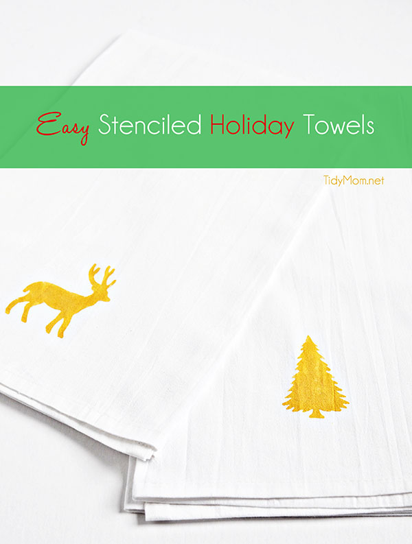 Stenciled Holiday Towels