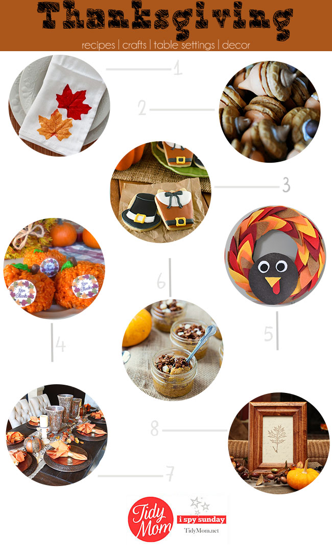 Thanksgiving Ideas | recipes, crafts, table top, decor and more at TidyMom.net