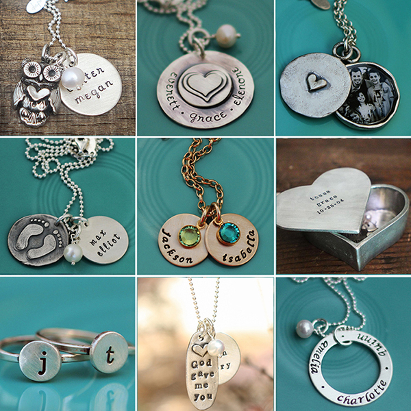 The Vintage Pearl handstamped jewelry