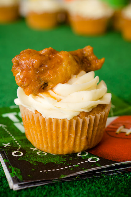 Buffalo Chicken Cupcakes from CupcakeProject.com