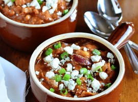 Buffalo Chicken Chili recipe at TidyMom.net