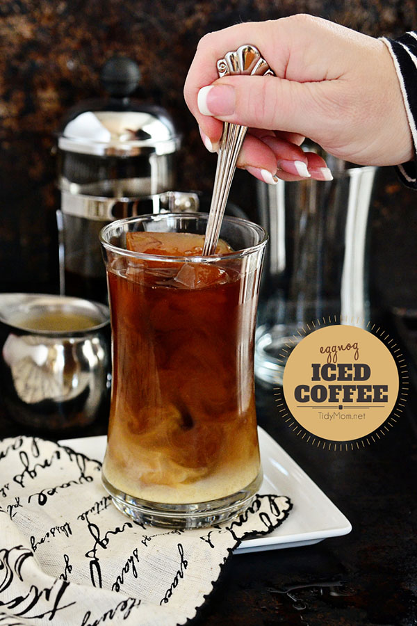 How to make Cold Brewed Coffee | Eggnog Iced Coffee recipe
