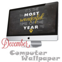 FREE December Background Wallpaper at TidyMom
