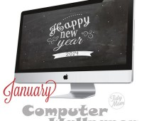 FREE January Background Wallpaper at TidyMom