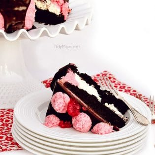 Chocolate Marshmallow Raspberry Slice Cake