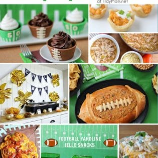 Football party ideas at TidyMom.net