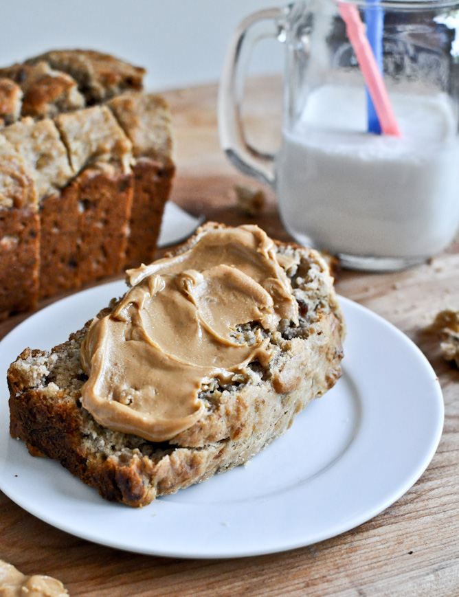 Peanut Butter & Bacon Bread from How Sweet Eats