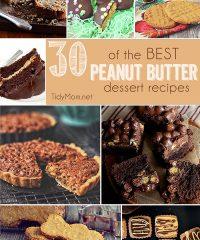 30 of the BEST Peanut Butter Dessert Recipes at TidyMom.net