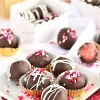 Chocolate Covered Strawberry Cake Balls #recipe at TidyMom.net #ValentinesDay