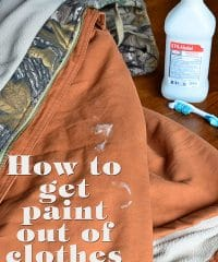Find out how to get paint out of clothes at TidyMom.net