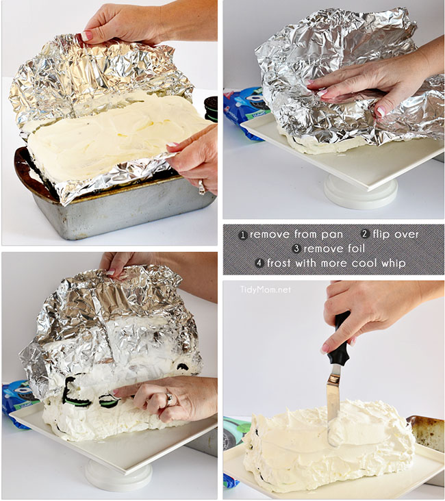 How to make a Mint Oreo Icebox Cake at TidyMom.net