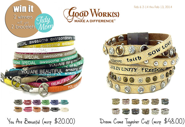 Win 2 Good Works bracelets at TidyMom.net