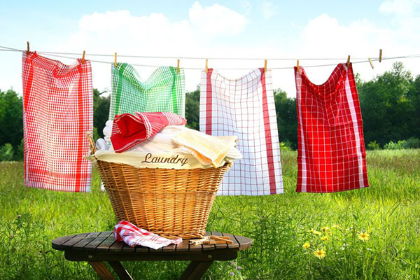 Tips on how to be more green at TidyMom.net - hang laundry to dry