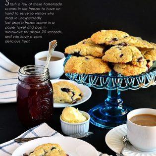 Homemade Blueberry Cream Scones recipe at TidyMom.net