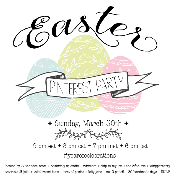 Join us for a #yearofcelebrations Pinterest Easter Party Sunday April 30, 2014