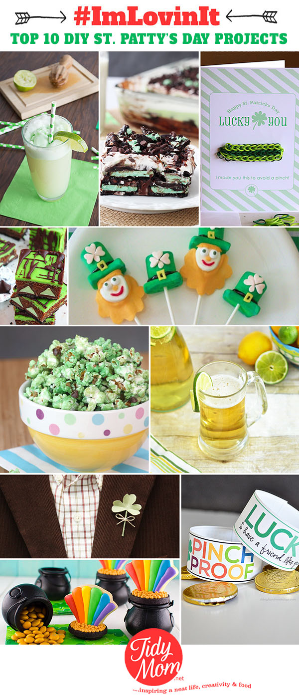 Top 10 DIY St. Patrick's Day Projects of the week #ImLovinIt at TidyMom.net