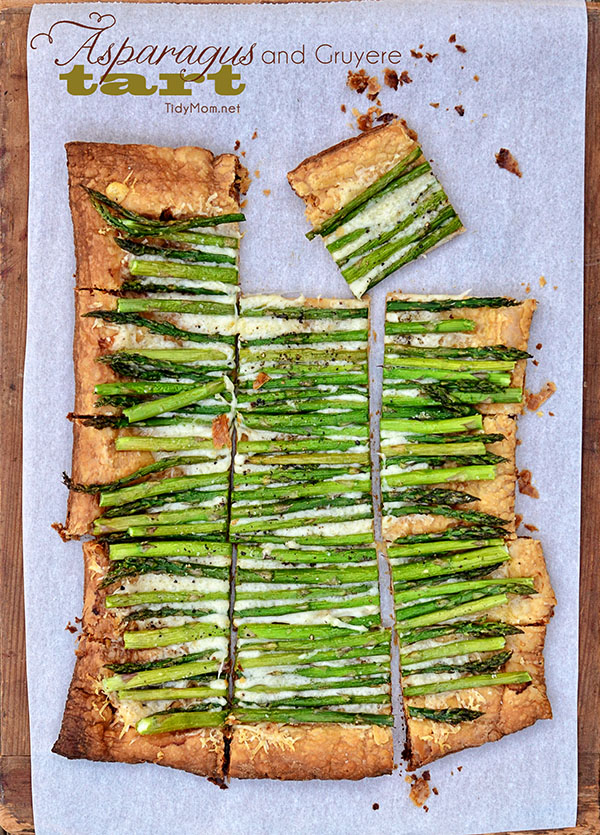 puff pastry makes this simple, 3 ingredient Asparagus and Gruyere Tart ...