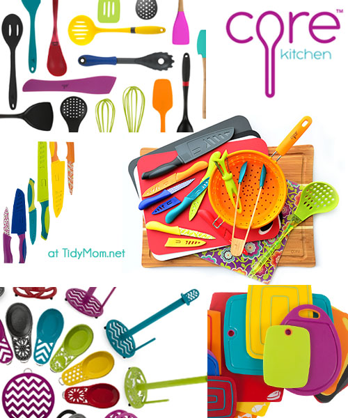 Core Kitchen Tools where function meets design.  The modern colors and styles will be sure to add touch of cheer to your kitchen. TidyMom.net
