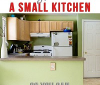 Learn how to organize a small kitchen, so you can cook daily stress free. more tips at TidyMom.net