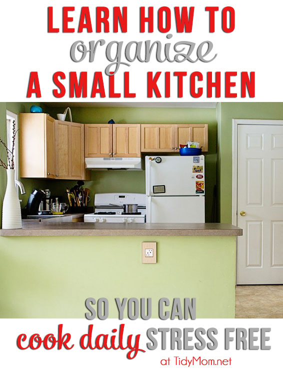 small kitchen organization tips