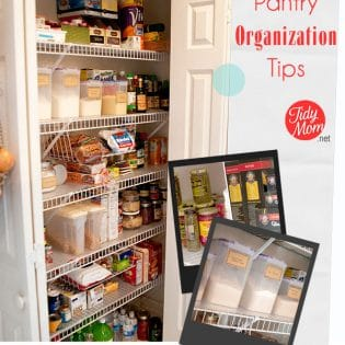Pantry Organization tips at TidyMom.net