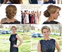Classic Style updo hair style for prom, homecoming, wedding or formal.