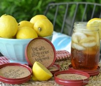 DIY Mason Jar Lid Coasters tutorial at TidyMom.net