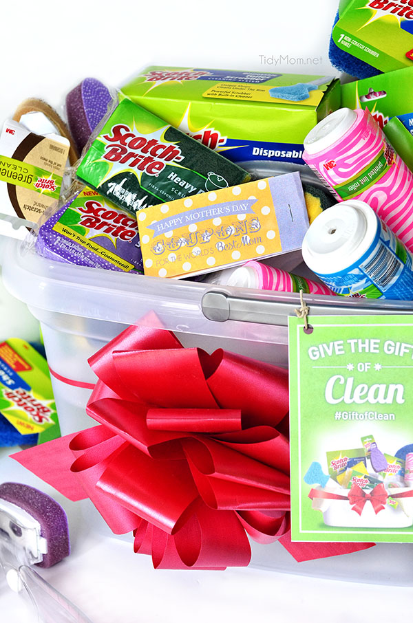 Give Mom the gift of clean this Mother's Day! Free printable coupon book + new cleaning supplies