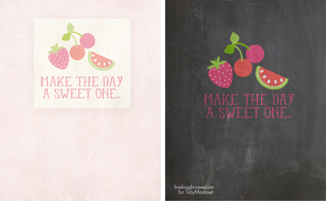 Make the Day a Sweet One Chalkboard FREE Summer Printables at TidyMom.net