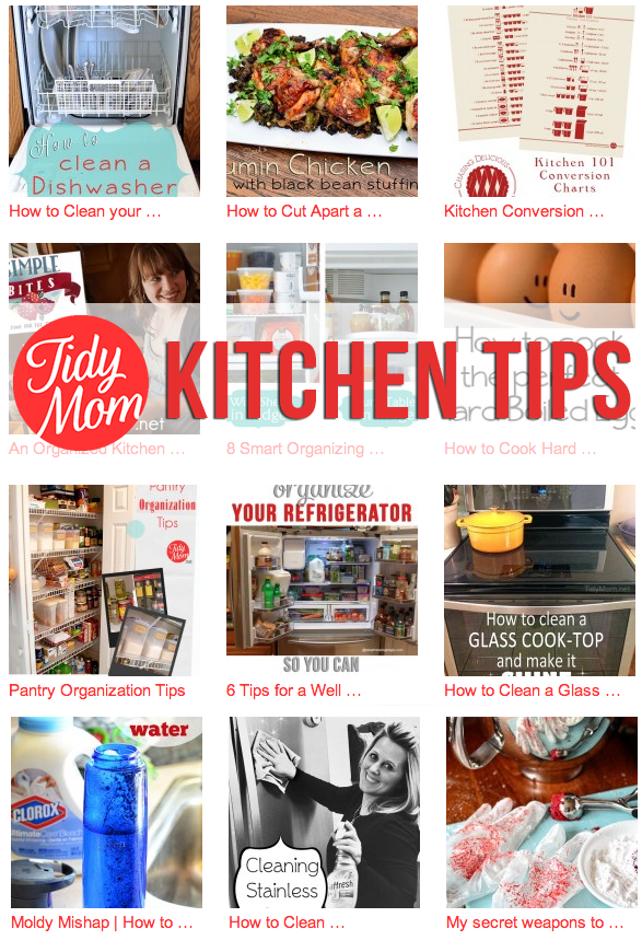 Kitchen Tips to make your life easier at TidyMom.net