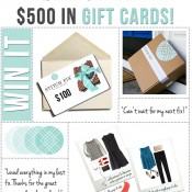 5 lucky winners will win a $100 Stitch Fix Gift Card!!